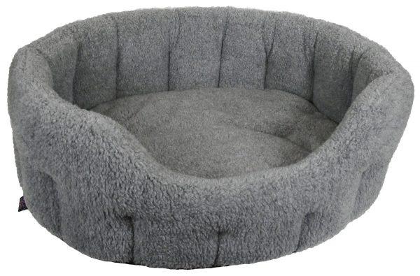 Fleece Material Softee Beds Silver Grey