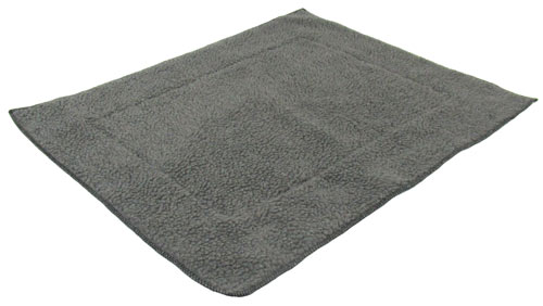 Grey Fleece Dog Crate Mat