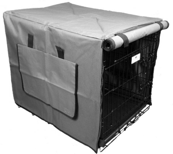 Grey Waterproof Dog Crate Covers