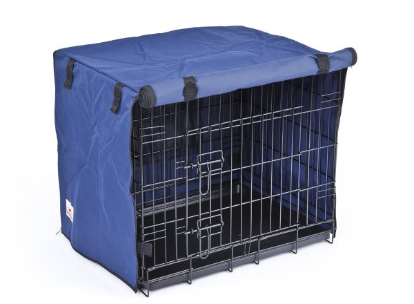 Settledown 2 Door Waterproof Dog Crate Covers Blue