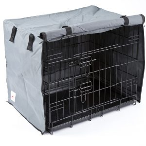 Settledown 2 Door Waterproof Dog Crate Covers Grey