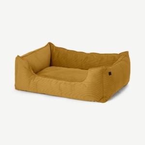 Kysler Pet Bed, Extra Large, Mustard Corduroy