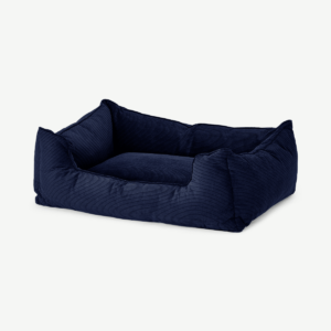 Kysler Pet Bed, Extra Large, Navy Corduroy
