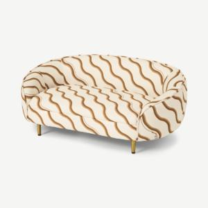 Poodle & Blonde Trudy Bellisima Pet Sofa, S/M, Champagne & Chocolate